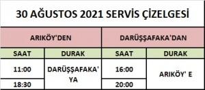 30 AGUSTOS 2021 SERViS CiZELGESi